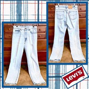 🌻 Vintage *Orange Tab* Levi's 505 Jeans 33x34 🌻
